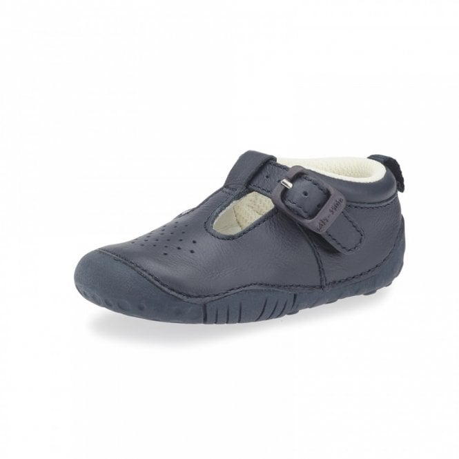 Start-rite Baby Jack Navy Leather Boys First Shoe