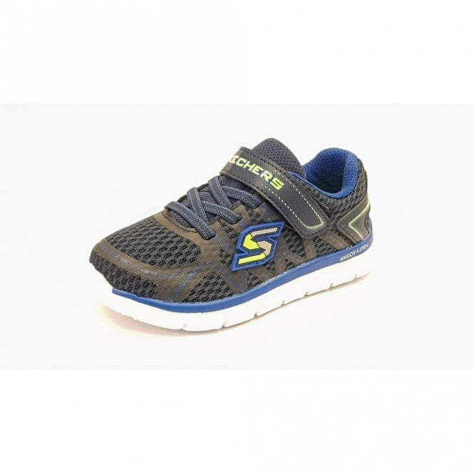 Skechers Sketch-Lite - Quick Leap Navy / Blue Boys Trainer