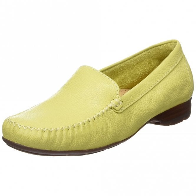 Van Dal Sanson Citron Leather Loafer Moccasin Shoe