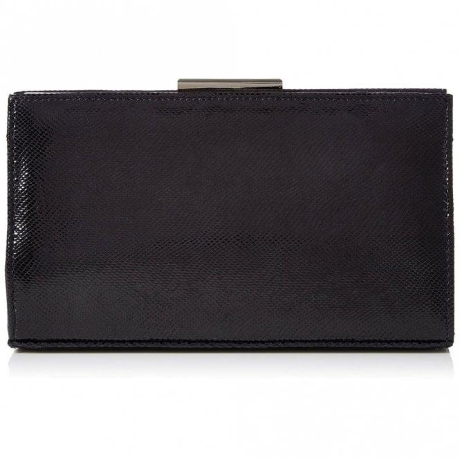 Van Dal Zinnia Midnight Navy Reptile Print Leather Handbag