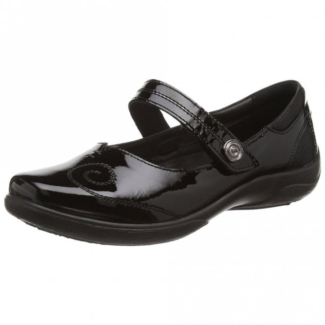 Padders Lyric Black Patent Mary Jane Shoe