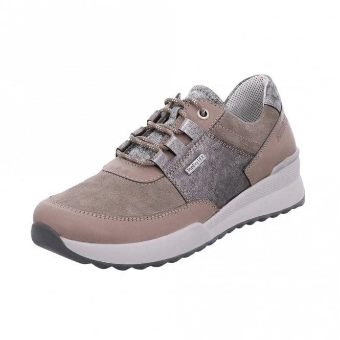 Romika Victoria 01 Grey Combi Leather Waterproof Shoe