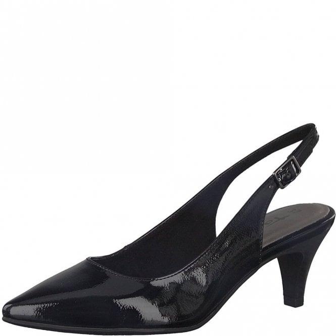 Tamaris 29601-20 Black Patent Sling Back Shoe
