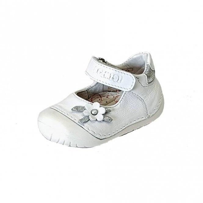 Primigi PLE 14002 White Leather Girl's First Shoe