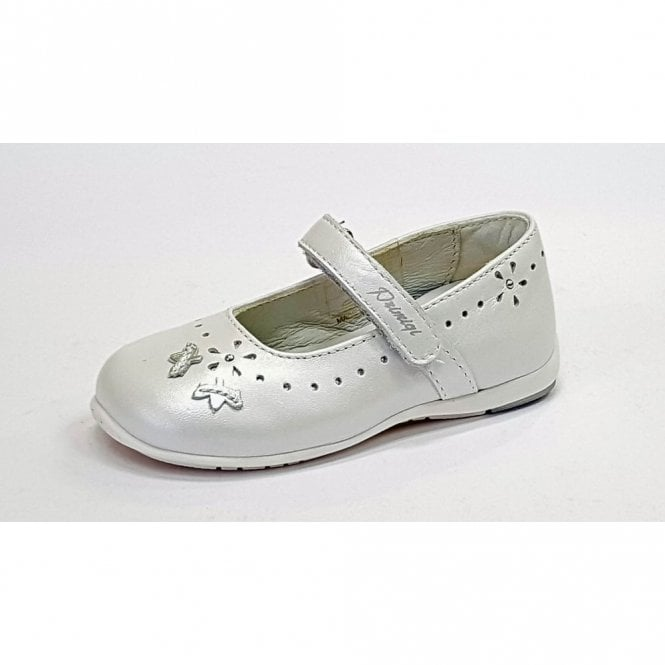 Primigi PHE 14183 White Leather Girl's Velcro Shoe