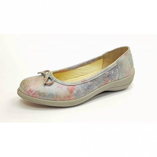Padders Roxy White Rainbow Leather Comfort Shoe