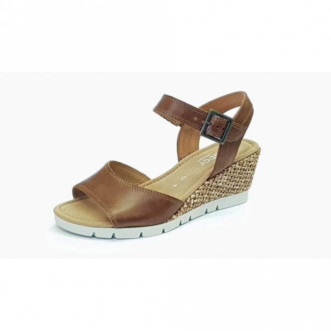 Gabor Nieve 82.842.53 Brown Leather Wedge Sandal