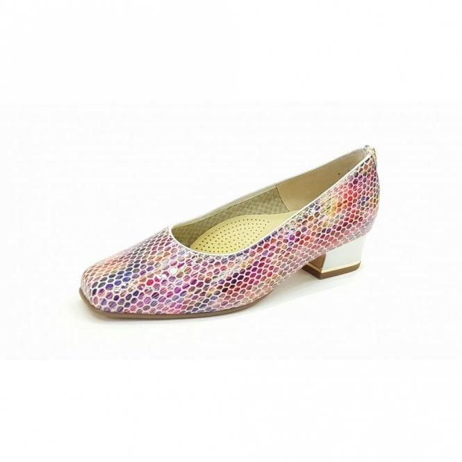 Ara 11859-22 Pink Multi Reptile Print Court Shoe