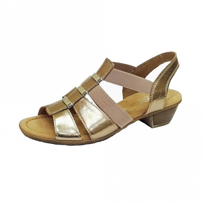 Gabor Joan 82.472.94 Metallic Leather Sandal