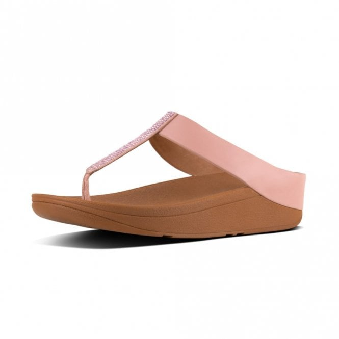 FitFlop Fino Crystal Toe Thong Dusky Pink Sandal