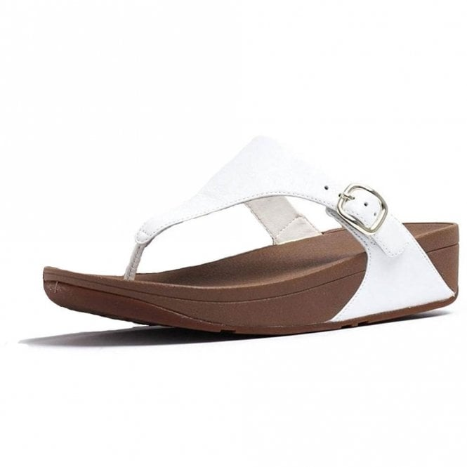 FitFlop Skinny Toe Thong Urban White Leather Sandal