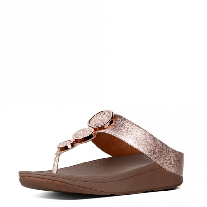 FitFlop Halo Rose Gold Leather Sandal
