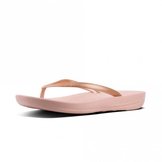 FitFlop Iqushion Ergonomic Flip-Flops Nude / Rose Gold Mix Sandal