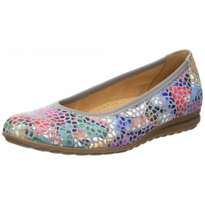 Gabor Splash 82.620.24 Stone / Floral Multi Leather Pump