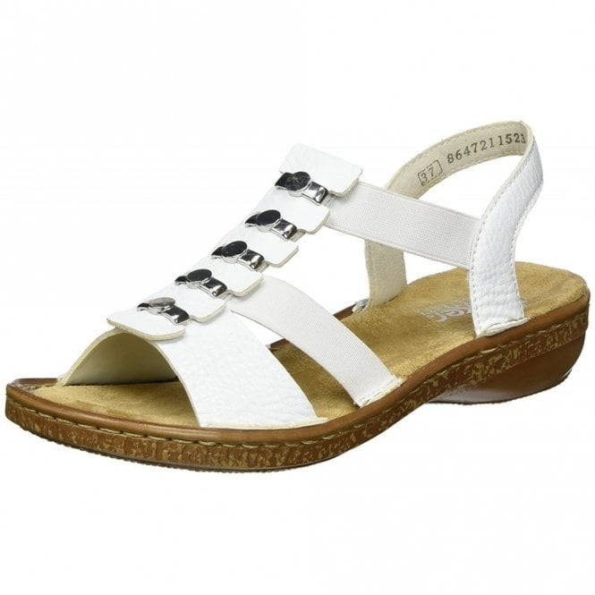 Rieker 62850-80 White Synthetic ladies Sandal