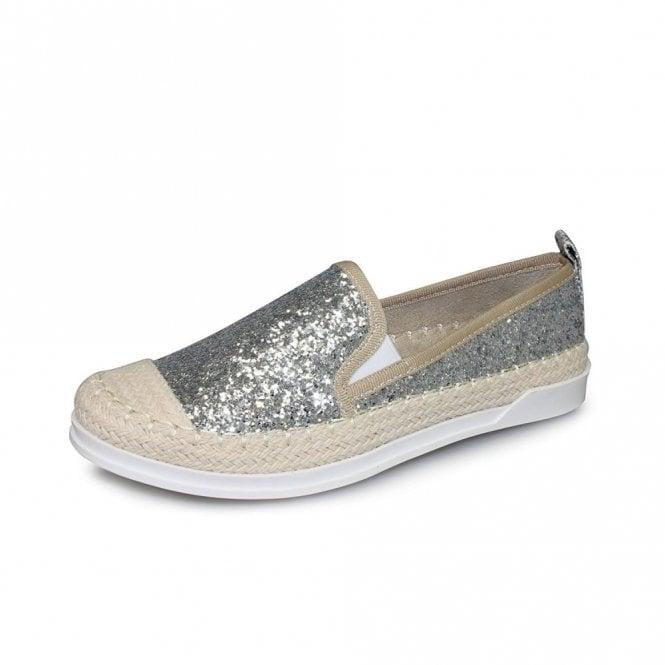 Lunar Tahiti FLH955 Silver Glitter Casual Shoe