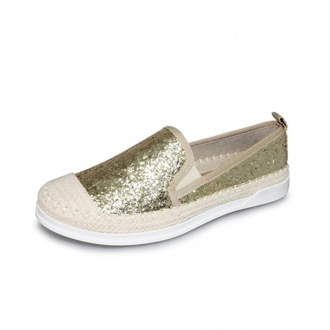 Lunar Tahiti FLH955 Gold Glitter Casual Shoe