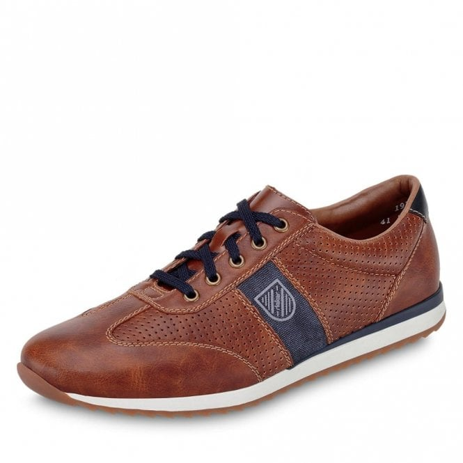 Rieker 19325-25 Brown Synthetic Mens Lace Up Shoe
