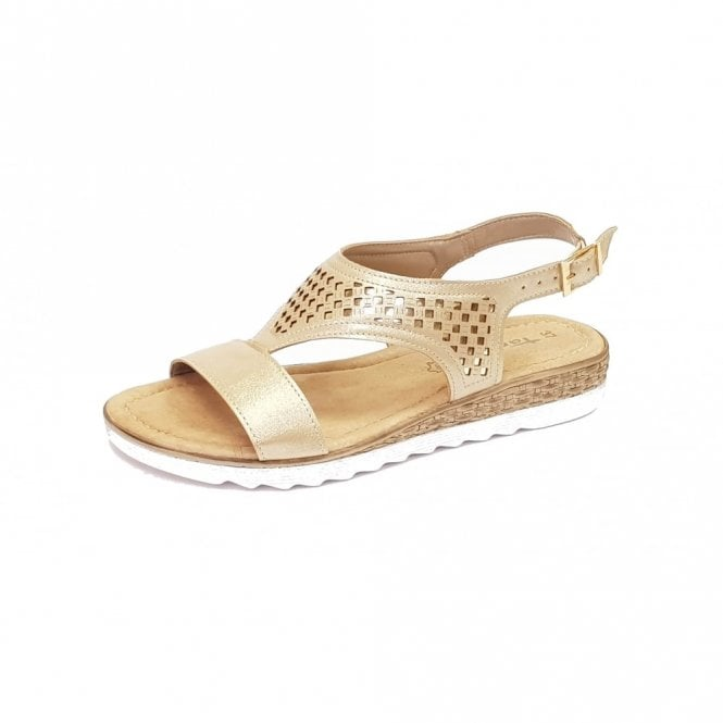 Tamaris 28713-20 Platinum / Gold Metallic Sandal
