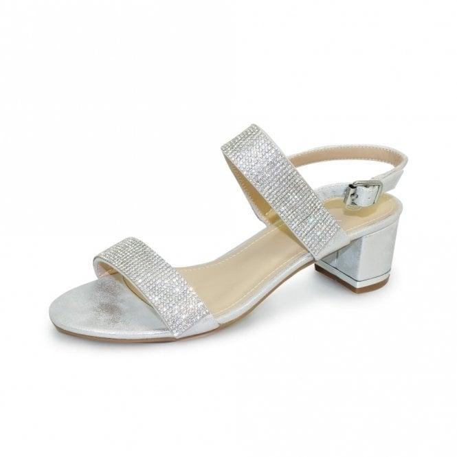 Lunar Murcia Silver Sandal with Diamante's