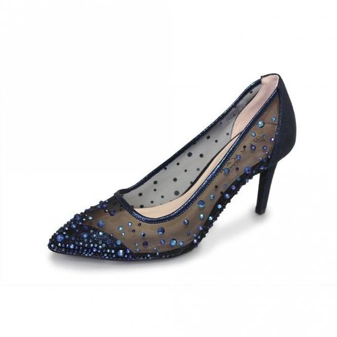 Lunar Argo FLR402 Navy Mesh Shoe with Gemstones