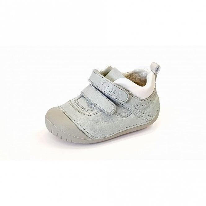 Primigi PLE 14004 Pale Blue / White Leather Boy's Velcro First Shoe