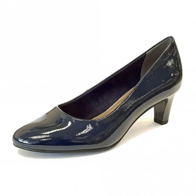 Tamaris 22493-21 Navy Patent Court Shoe