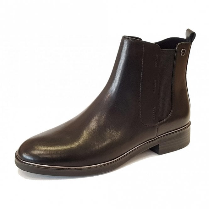 Tamaris 25307-21 Black Leather Ankle Boot