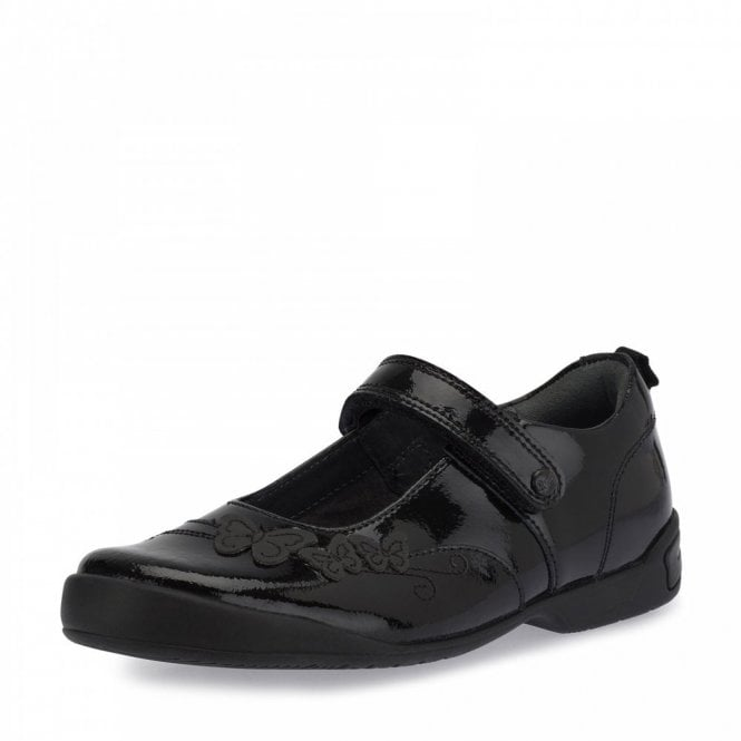 Start-rite Pump Black Patent Girl's School Shoe