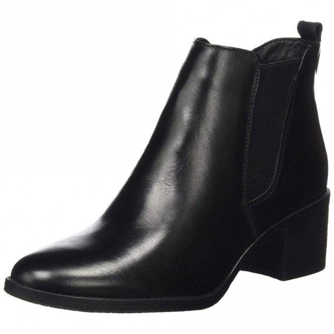 Tamaris 25043-21 Black Leather Ankle Boot