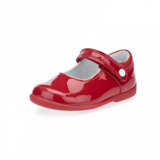 Start-rite Nancy Red Patent Girl's First Walking Shoe