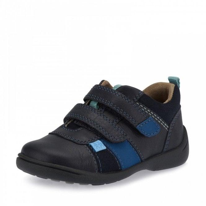 Start-rite Grip Navy Leather Boys Shoe
