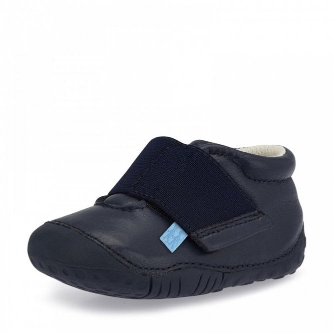 Start-rite Balance Navy Leather Boys First Shoe