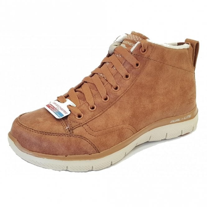 Skechers Flex Appeal 2.0 - Warm Wishes Chestnut Brown Ankle Boot