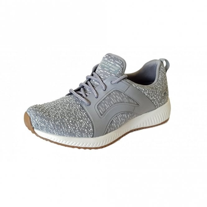 Skechers BOBS Sport Squad - Sky Write Grey / White Fabric