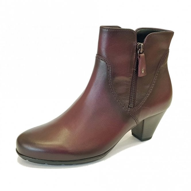 Gabor Martineau 95.640.25 Wine Leather Ankle Boot