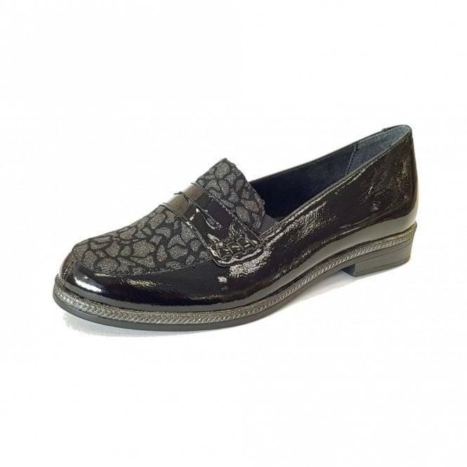 Remonte Dorndorf D2622-02 Black Leather Loafer Shoe