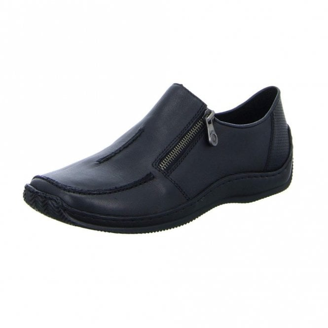 Rieker L1780-00 Black Leather Ladies Shoe