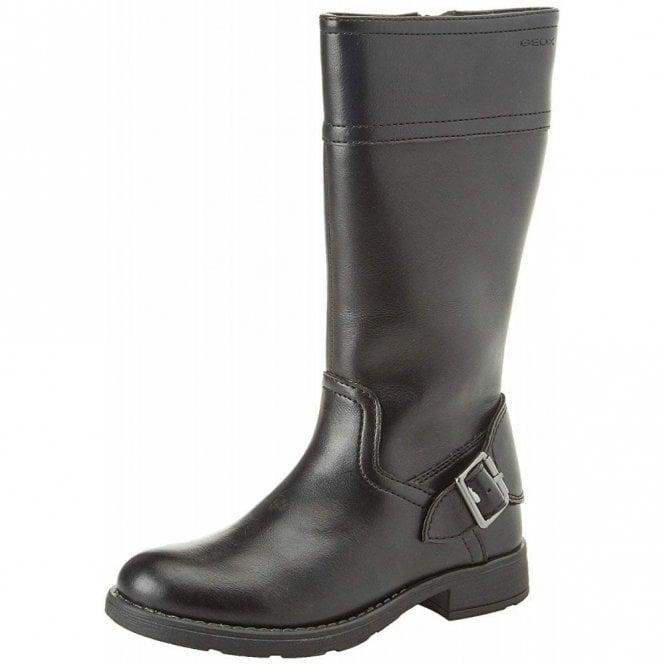 Geox J Sofia D J84D3D Black Leather Girls Boot