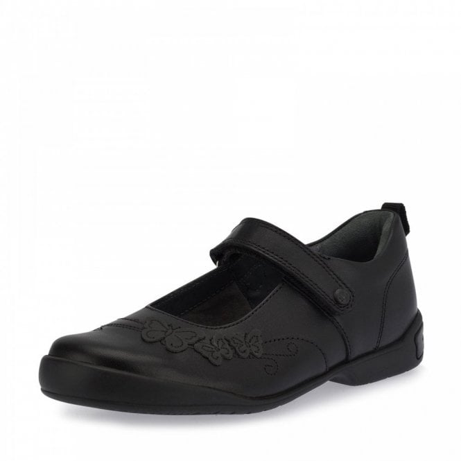 Start-rite Pump Black Leather Girl's School Shoe