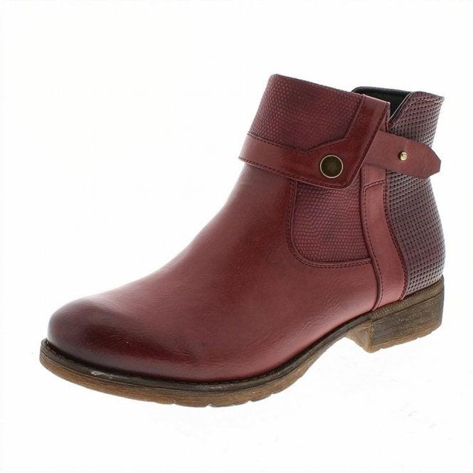 Romika Wendy 01 Bordo Ankle Boot