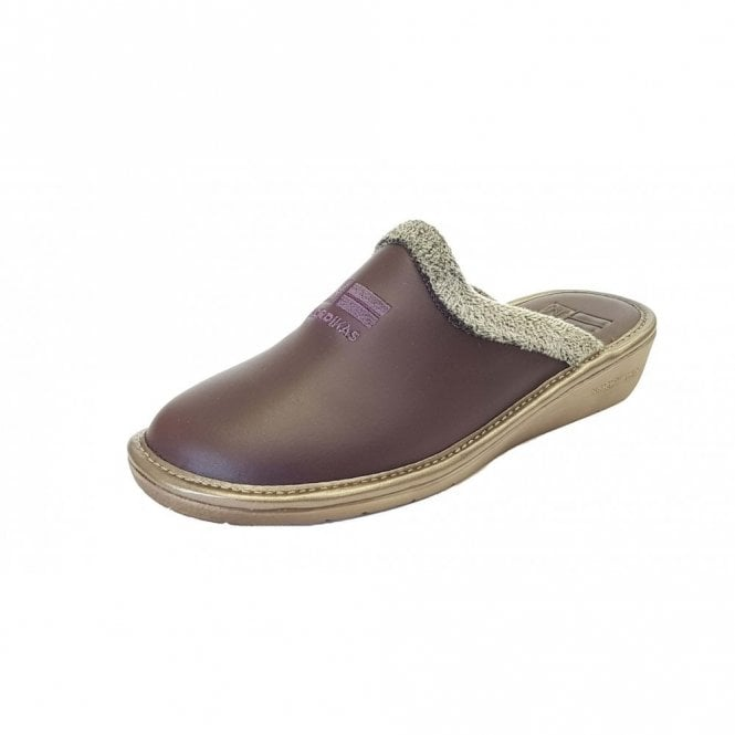 Nordikas 238 Ohio Morado Purple Leather Mule Ladies Slipper