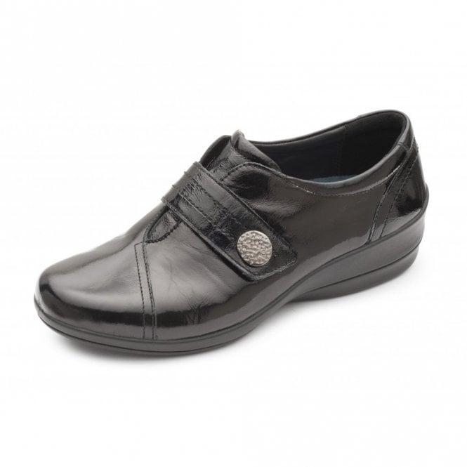 Padders Simone 3 Black Patent Velcro Shoe