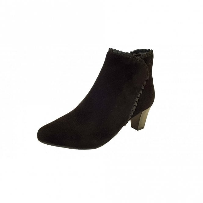 Gerry Weber Lena 23 Black Suede Ankle Boot