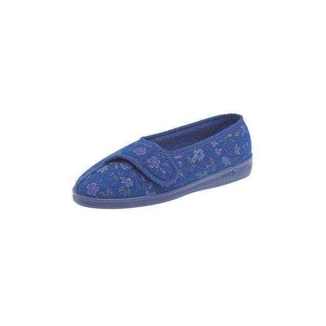 Comfylux Diana Blue Velcro Full Slipper