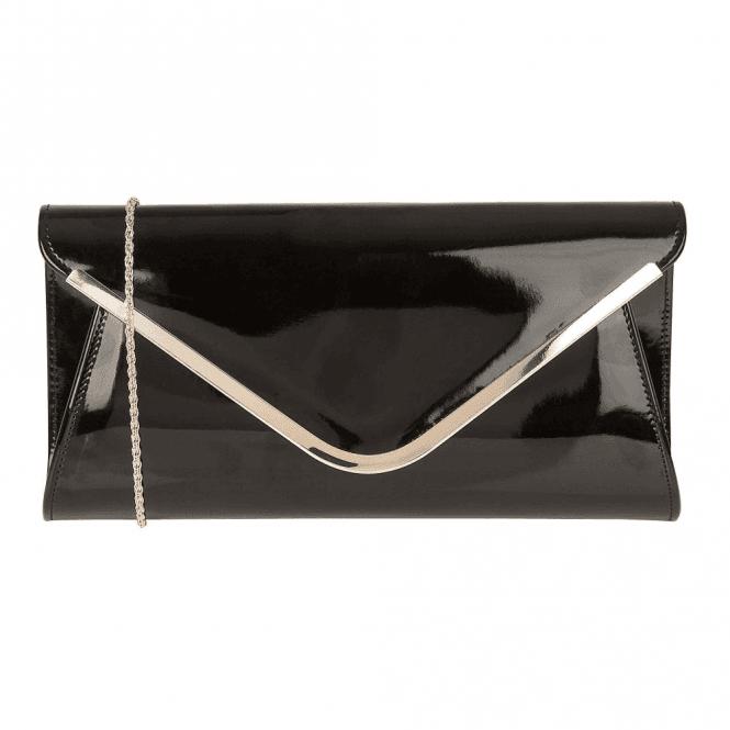 Lotus Sommerton Black Shiny Clutch Bag