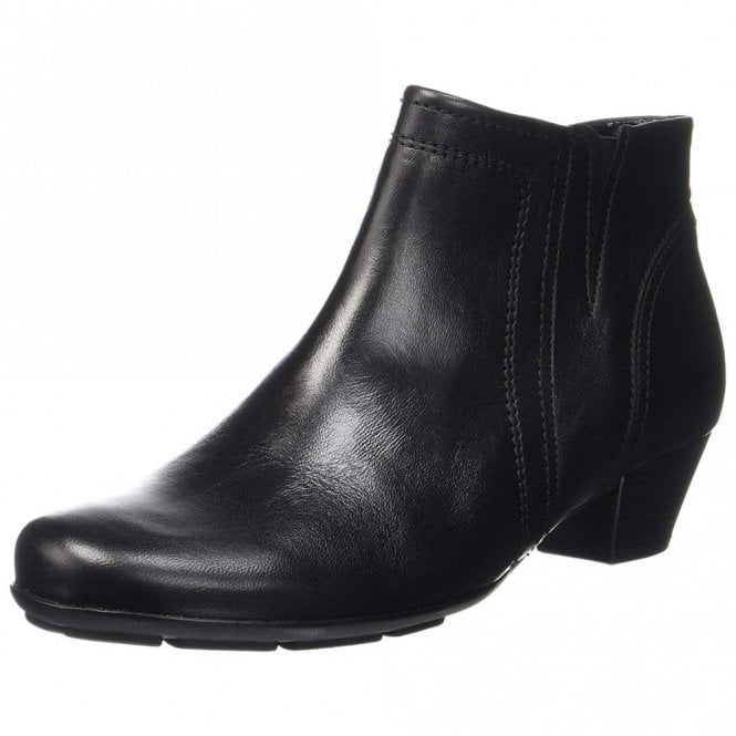 Gabor Heritage 95.638.27 Black Leather Ankle Boot