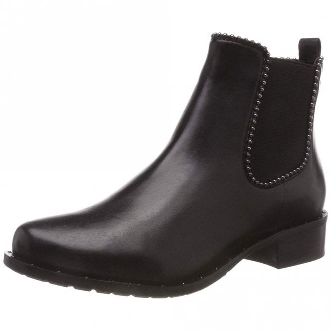 Gerry Weber Calla 10 Black Leather Ankle Boot