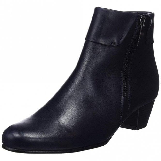 Gabor Royston 96.073.66 Dark Navy Leather Ankle Boot