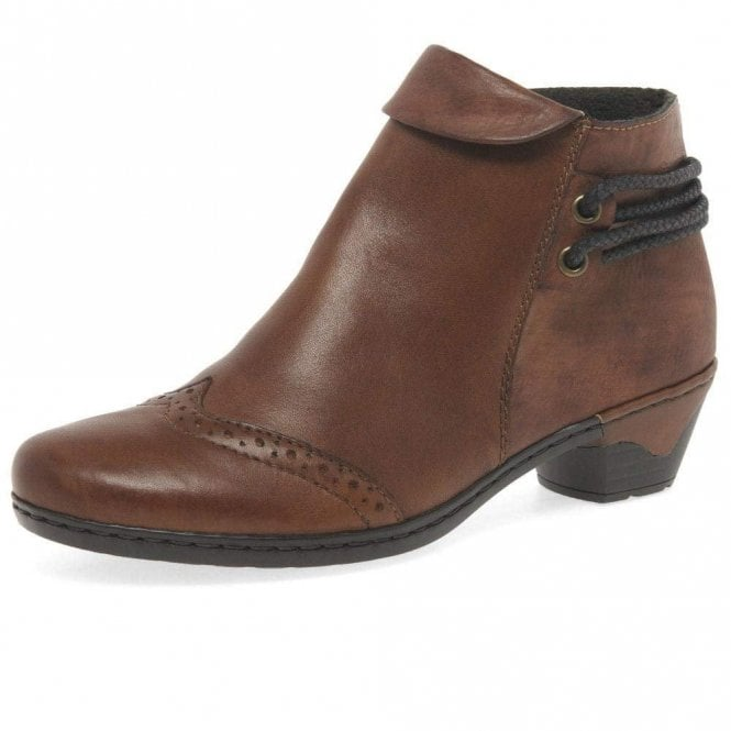 Rieker 76981-24 Brown Leather Ankle Boot